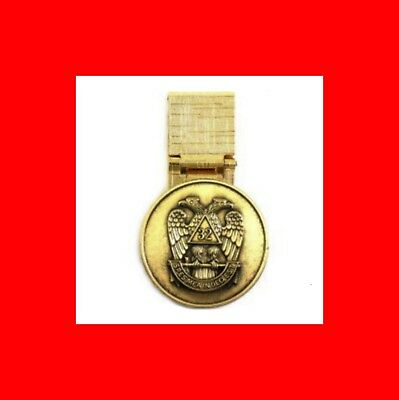 Exc New Gift-Scottish Rite Bronze Coin Masonic Money Clip-French Fold Free Mason