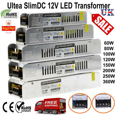 LED Driver Adapter AC 220 -240V To DC 12V Transformer Power Supply LED Strip UK