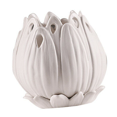 Blesiya Ceramic Flowerpot Planter White Bonsai Succulent Plants Flower Pot