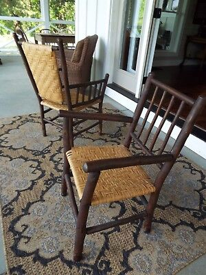 Stunning Pair Of Adirondack Hickory Chairs- Excellent Condition!
