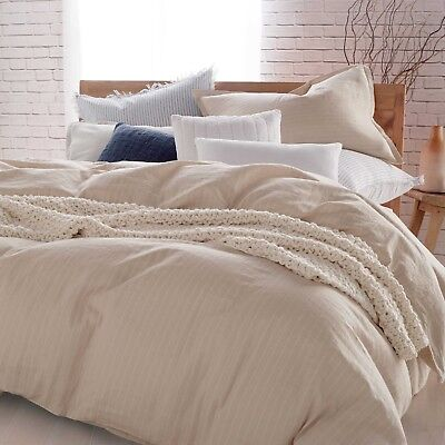 Dkny Pure Comfy 100 Cotton Duvet Cover In Linen Full Queen 89 99