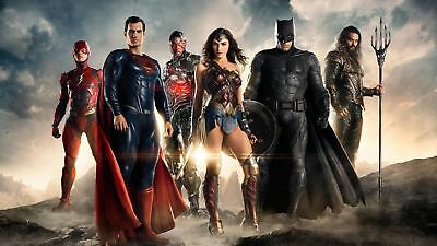 Justice League Movie Art Silk Poster 8x12inch