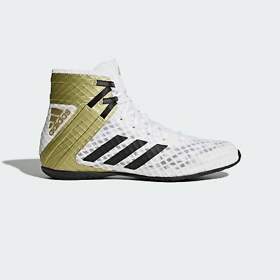 Adidas Boxing Boots Speedex 16.1 White Lace Up Sports Retro Style Trainers