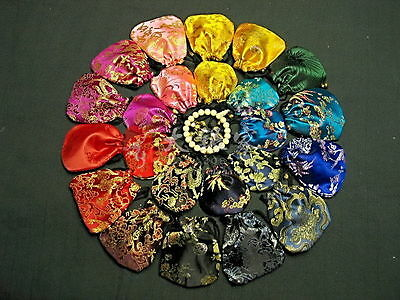 Wholesale18pcs Chinese Handmade Classic Silk Jewellery Pouch/Coin Purse Gift Bag
