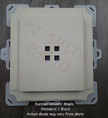 "Summer Wheat / Maple Vinyl Siding Standard Mounting J Block 7-1/2"" x 8-1/2"""