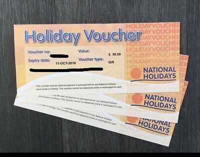 £50 National Holiday Voucher