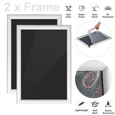 2PCS A1 A4 Picture Snap Frame Photo Frame Poster Frame Aluminum Finish Silver