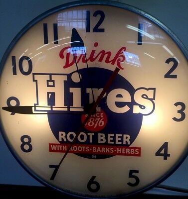 Vintage Original Pam Lighted DRINK HIRES ROOT BEER Advertising  Clock