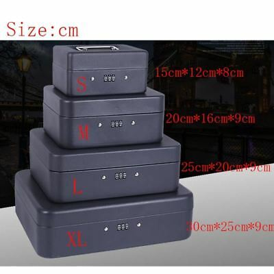 Portable Security Safe Box Money Jewelry Storage Collection Box Home School Offi