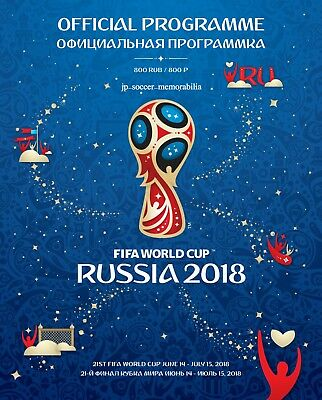 2018 World Cup Final's (Russia) - Official FIFA Licensed Tournament Programme