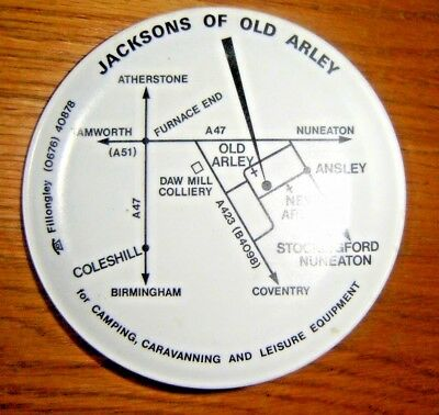 """Jacksons of old Arley Pin tray """"with Map of Site"""""""