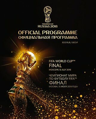 2018 World Cup Final (Russia) - Official FIFA Licensed Programme - MINT
