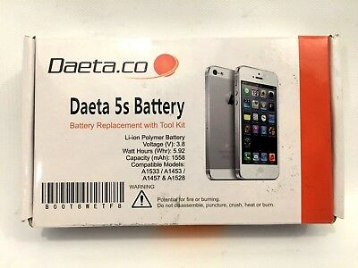 Battery for iPhone 5S 616-0721 616-0722 1560mAh Brand New OEM Replacement