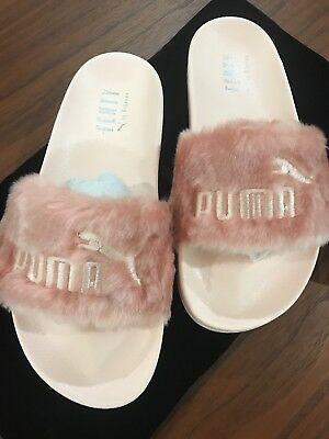 Puma x Rihanna Fenty Slides Olive green Pink Black Grey White Lead Slippers  bow 22c98a516