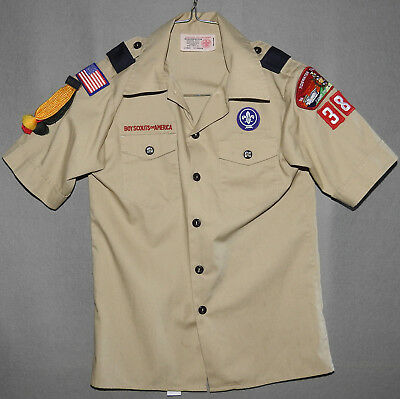 Boy Scouts of America Official Uniform Shirt size YOUTH MEDIUM