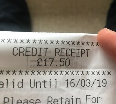 MARKS AND SPENCER M&S Credit Voucher Note/Gift Voucher £17.50 Valid March 2019