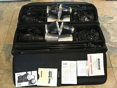 Bowens Gemini GM400 2x twin sets + trigger and soft boxes