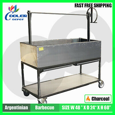 """48"""" Commercial outdoor BBQ oven OB48 Commercial Stainless Steel Cooler Depot New"""