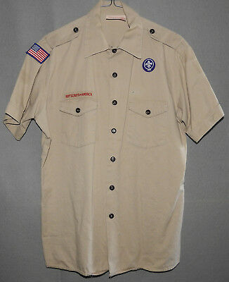 Boy Scouts of America Uniform Official Shirt size Men's LARGE (16 - 16 1/2)