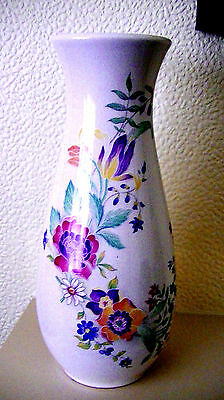Pretty Melba Ware vase with finely detailed flowers in mixed colours