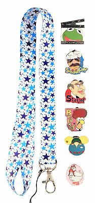 Muppets Themed Starter Lanyard Set w/ 5 Disney Park Trading Pins ~ Brand NEW