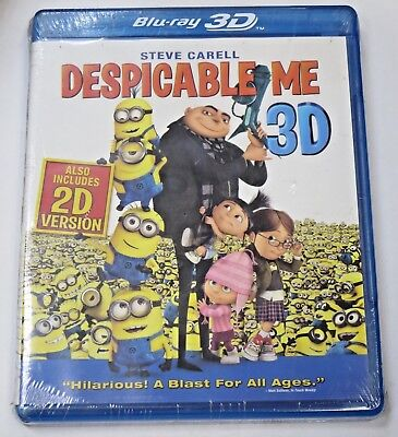 Despicable me 3D 2D Blu Ray Disc Sharp Exclusive Promotional Edition New Sealed