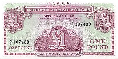 Great Britain 1 Pound ND 1962 P.M36 4th Series Military voucher AU, NR