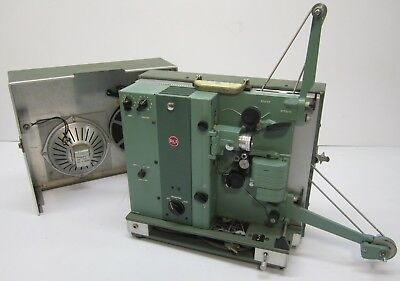 Vtg 1960s RCA 416 16mm Film Sound Movie Projector W/ Speaker & Case AS IS