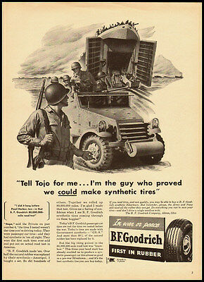 1943 vintage WW2 ad for B.F. Goodrich  -122211