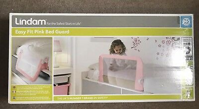 Lindam Easy Fit Pink Bed Guard BNIB