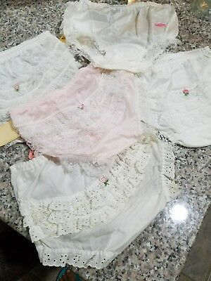 Vintage Baby Girl Lace Ruffle Bottom Nylon Panty Diaper Cover