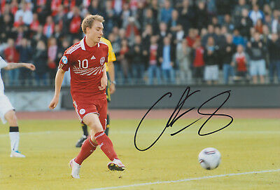 "Christian Eriksen signed 12x8"" Denmark photo / COA"