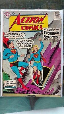 1959 DC Comic Superman Action Comics #252 1st appearance of SUPERGIRL / METALLO