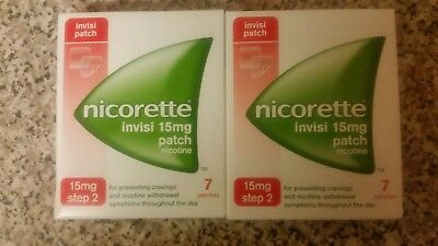 Nicorette Invisi Patch 15mg Step 2 x 2 packs = 14 patches dated 08/2020