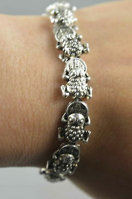 Collectible Handwork Old Miao Silver Carve Special Dragon Wealthy Noble Bracelet