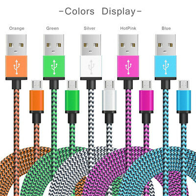 Lot Fast Rapid Charging Nylon Braided USB-C Type-C 3.1 Data Sync Charger Cable