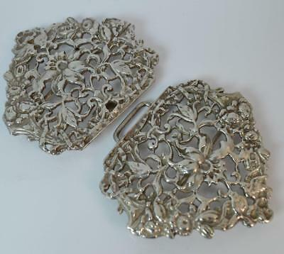 Quality Victorian Design Solid Silver Large Nurses Buckle