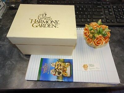 MIB Lord Byron's Harmony Garden Egyptian Rose HG4ER Lidded Box 1999 W/Box & Coa