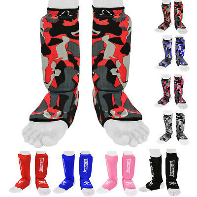 Kids Shin Instep Pads MMA Leg Foot Guard Muay Thai Kick Boxing Guard Protector X