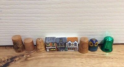Vintage Thimbles x 32 - Birchcroft - One Hall-marked Silver etc