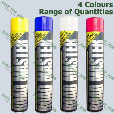 Survey Line Marker Marking Spray Paint 750ml - Permanent ~ WHITE BLUE YELLOW RED
