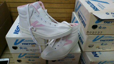 Vintage 80s womens Tretorn Hi top canvas tennis nylite shoe made in usa rare