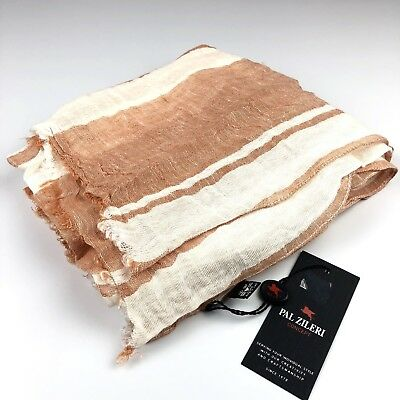 "PAL ZILERI CONCEPT 100% Linen Men's Scarf *Made in Italy* 17"" X 70"""