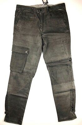4876f08f0e PAL ZILERI LAB Italy Gray Wool Blend Skinny Slim Casual Mens Cargo ...