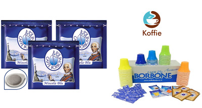 300 Cialde in Carta Caffe' Borbone ESE 44 mm Miscela Blu + 2 KIT 150 PZ