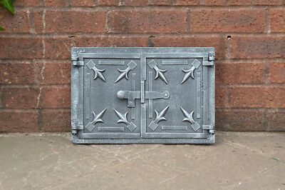 41.2 x 27.3 cm cast iron fire bread oven door doors flue clay range pizza