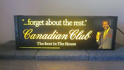 "Vintage Canadian Club Whisky Bar Light ""Man Cave"""