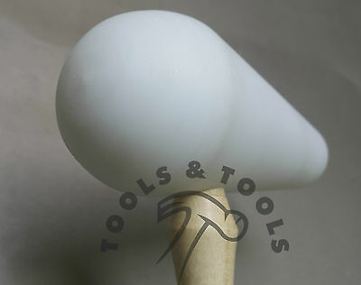 """High Quality Domed Teflon Hammer 5"""" Head Mallet Forming Dapping Shaping Repousse"""