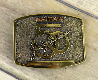 Mac Tools Belt Buckle 1988 50 Years of Excellence Anniversary Auto Car Mechanic