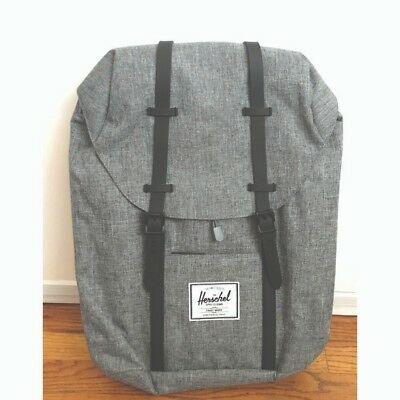 bc9ce4f06aa4 NEW GREY RAVEN Crosshatch Black Rubber The Herschel Retreat Backpack ...